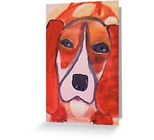 Wanna play ball, I do!  watercolor Greeting Card
