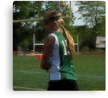 042512 207 1 oil girl lacrosse player Canvas Print