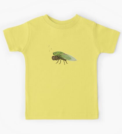 Cicada Playing a Squeezebox Kids Tee