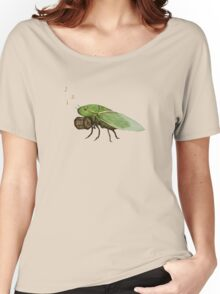 Cicada Playing a Squeezebox Women's Relaxed Fit T-Shirt