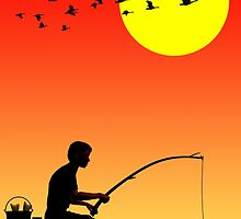 Childhood dreams, Fishing by John Edwards