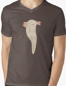 Floating Axolotl Mens V-Neck T-Shirt