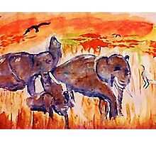 Family is survival, watercolor Photographic Print