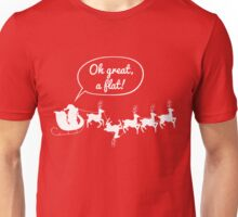 Santa gets a flat - White version Unisex T-Shirt