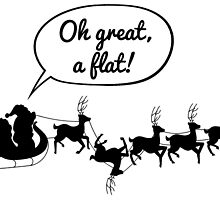 Santa gets a flat by heroics