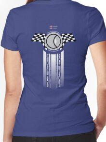 Steve McQueen 12 Hours of Sebring 1970 Team Tribute Women's Fitted V-Neck T-Shirt