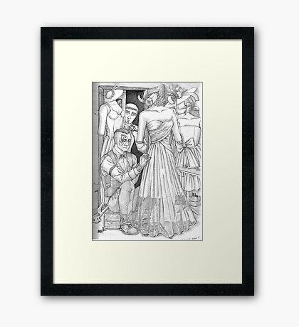 The Groom Framed Print
