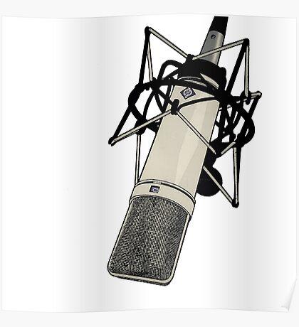 Neumann U87 Microphone Poster
