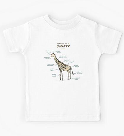 Anatomy of a Giraffe Kids Tee