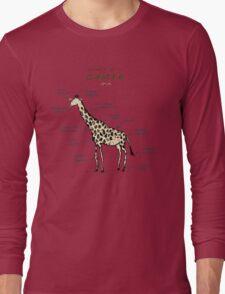 Anatomy of a Giraffe Long Sleeve T-Shirt