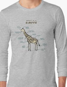 Anatomy of a Giraffe Long Sleeve T-Shirt