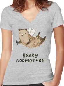 Beary Godmother Women's Fitted V-Neck T-Shirt