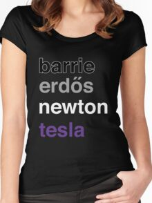 barrie erdős newton tesla Women's Fitted Scoop T-Shirt