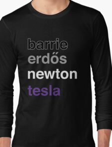 barrie erdős newton tesla Long Sleeve T-Shirt