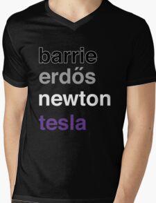 barrie erdős newton tesla Mens V-Neck T-Shirt