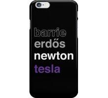 barrie erdős newton tesla iPhone Case/Skin