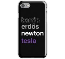 barrie erdős newton tesla iPhone Case/Skin