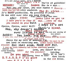 Resident Evil Quotes (dark letters for light colors) by Tvrs01001