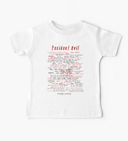 Resident Evil Quotes (dark letters for light colors) Baby Tee
