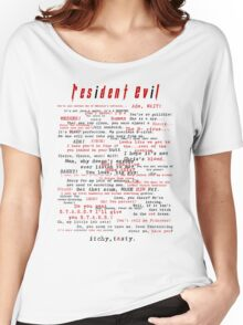 Resident Evil Quotes (dark letters for light colors) Women's Relaxed Fit T-Shirt