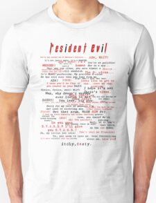 Resident Evil Quotes (dark letters for light colors) Unisex T-Shirt