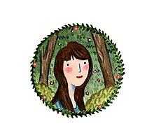 Self Portrait in Woodland Photographic Print
