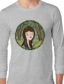 Self Portrait in Woodland Long Sleeve T-Shirt