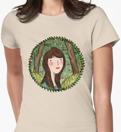 Self Portrait in Woodland Womens Fitted T-Shirt