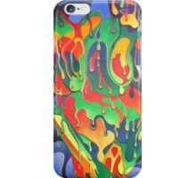 Buxom Nude Woman Splashed With Paint iPhone Case/Skin