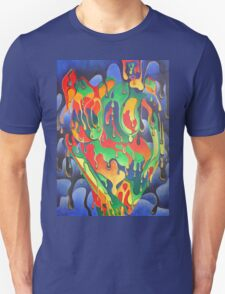 Buxom Nude Woman Splashed With Paint T-Shirt