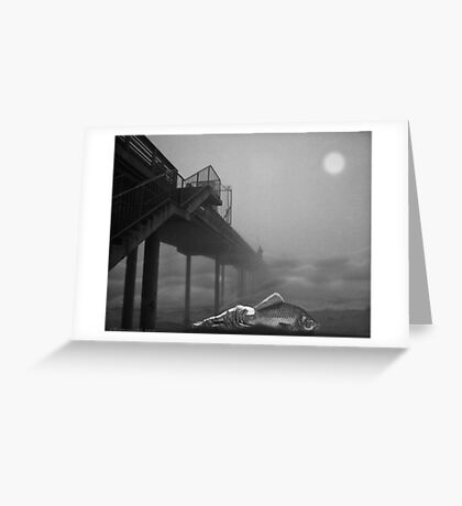 MOONLIGHT BEACH Greeting Card