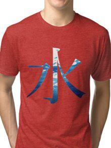 Water Kanji (Mizu) Tri-blend T-Shirt