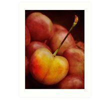 Golden cherry Art Print