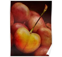 Golden cherry Poster