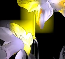 Cubist Daffodils Sticker