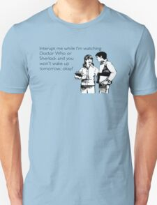 Doctor Who and Sherlock T-Shirt