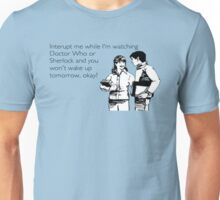 Doctor Who and Sherlock Unisex T-Shirt
