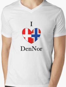 I heart DenNor Mens V-Neck T-Shirt