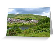 View of Blaengarw from Parc Calon Lan, Garw Valley  Greeting Card