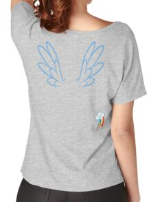 Rainbow Dash Wings & Cutie Mark Women's Relaxed Fit T-Shirt