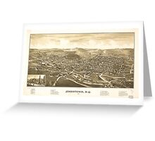 Panoramic Maps Johnstown NY 1888 Greeting Card