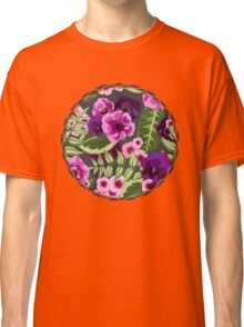 Pink and Purple Floral Expolosion Classic T-Shirt