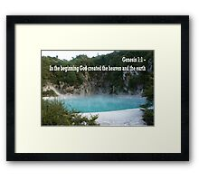 Geothermal Rotorua Lake Framed Print