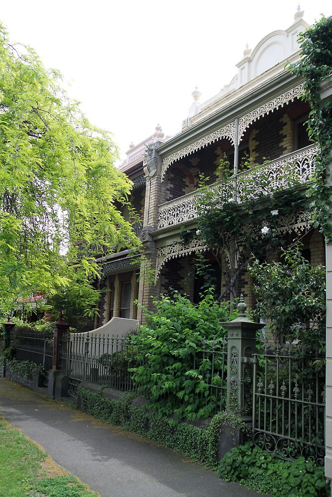 Parkville Polychromatic Terracehouses, Melbourne by Jane McDougall