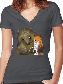 Timothy & Foxy Women's Fitted V-Neck T-Shirt
