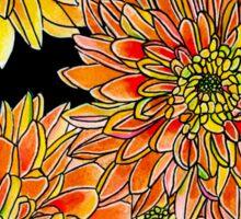 Autumn Kiss ~ Golden Dahlias Sticker