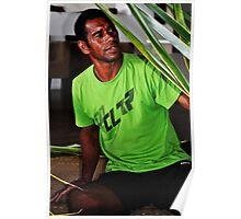 Fijian Basket Weaving Poster
