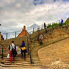 Bottom of the Whitby Steps by Tom Gomez