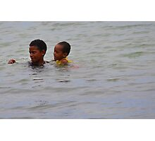 Fijian Kids Photographic Print