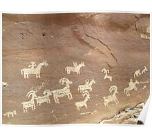 Petroglyphs at Arches Poster